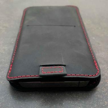 germanmade. iPhone 12 mini Lederhülle Aus vegetabil gegerbte Leder & natürlichem Wollfilz