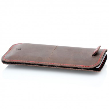 germanmade. iPhone 12 Pro Max Lederhülle Aus vegetabil gegerbtem Leder & natürlichem Wollfilz