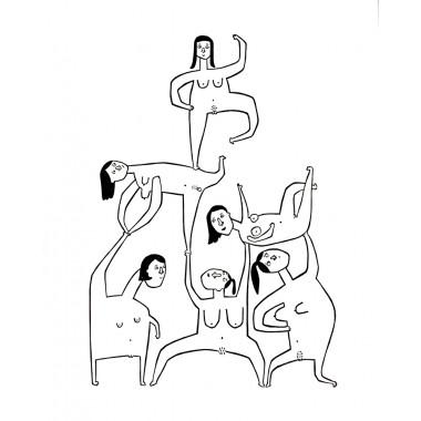 Girls Girls Girls | Linolschnitt