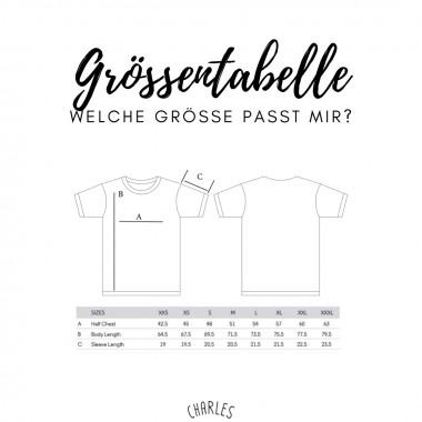Charles / Shirt Berg, Kompass, Wanderschuh / 100% Biobaumwolle / Fair Wear zertifiziert