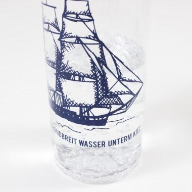 "Bow & Hummingbird Trinkflasche ""Wasser unterm Kiel"""