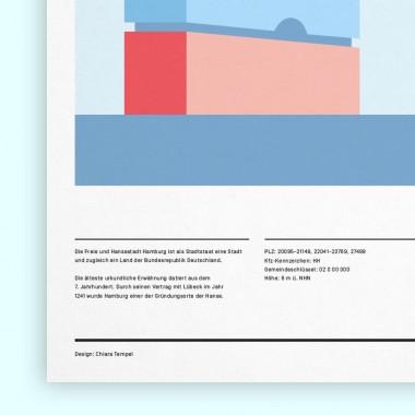 Chiara Tempel – Hamburg, meine Perle – Poster A3 (297x420mm)