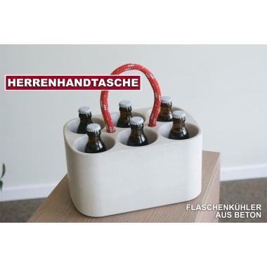 Handge-Pack: Der Flaschenkühler aus handgegossenem Beton - Made in Uptown Hamburg