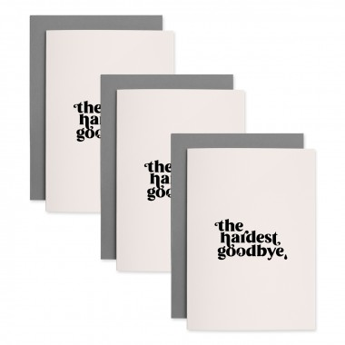 Hardest Goodbye | 3er Set Klappkarten inkl. Umschlag | heartfelt paper & co