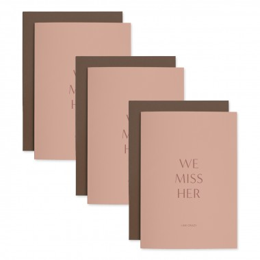 Missing Her | 3er Set Klappkarten inkl. Umschlag | heartfelt paper & co
