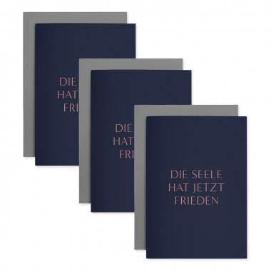 Seelenfrieden | 3er Set Klappkarten inkl. Umschlag | heartfelt paper & co