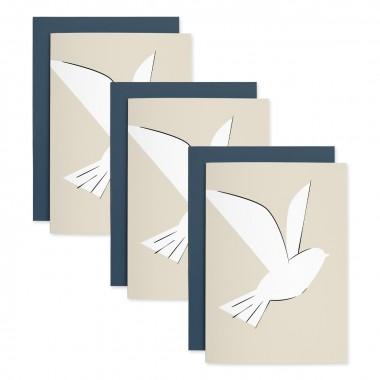 Taube | 3er Set Klappkarten inkl. Umschlag | heartfelt paper & co