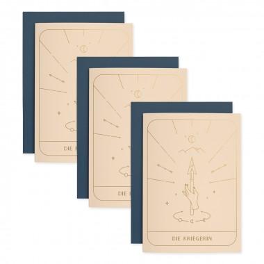 Tarot Kriegerin | 3er Set Klappkarten inkl. Umschlag | heartfelt paper & co