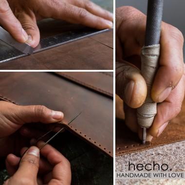 "hecho. Ledertasche ""Fernando"" für Apple iPad Pro 12,9"" 2018 & Apple Pencil (Hülle, Cover, Sleeve, Schutz)"