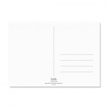 """Edith schmuckes Papier """"Herzliches Danke"""" Postkarte"""