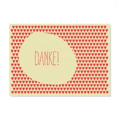 "Edith schmuckes Papier ""Danke -  Postkarten Set"" mit 2 Postkarten"