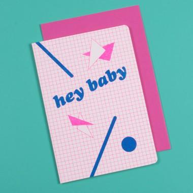 / hey baby - Grußkarte - Risodruck