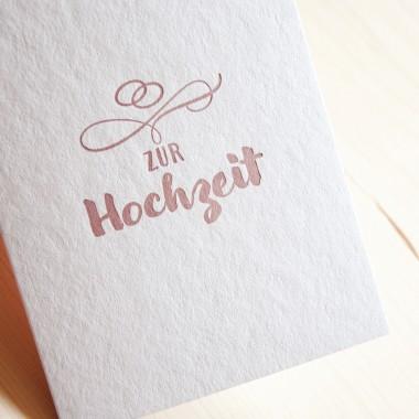 finicrafts zur Hochzeit Letterpress-Karte mit Umschlag