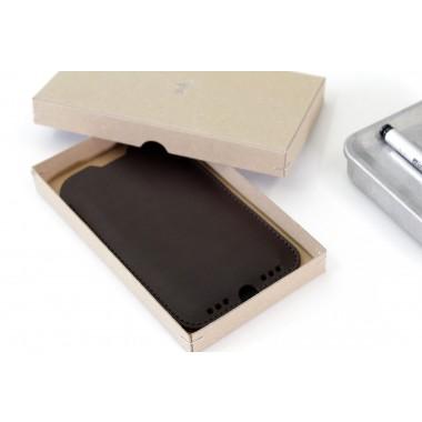 Kingston - iPhone 11 Pro / XS Hülle aus pflanzlich gegerbtem Leder mit 100% Merino Wollfilz innen kaschiert. Breite Version!
