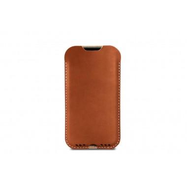 Kingston - iPhone 11 / XR Hülle aus pflanzlich gegerbtem Leder mit 100% Merino Wollfilz innen kaschiert. Schmale Version!