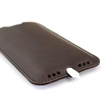 Kingston - iPhone 11 Pro / XS Hülle aus pflanzlich gegerbtem Leder mit 100% Merino Wollfilz innen kaschiert. Schmale Version!