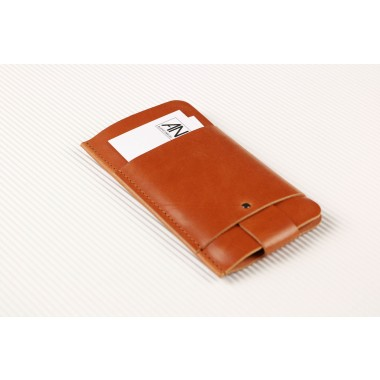 Slim Fit Hülle für iPhone 6 Plus / 6S Plus aus Premium Leder - Cognak [CO]