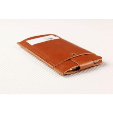 Slim Fit Hülle für iPhone 6 / 6S aus Premium Leder - Cognac [CO]