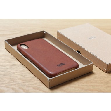 iPhone X Leder Schutzhülle, Back Cover (Vegetable tanned leather)