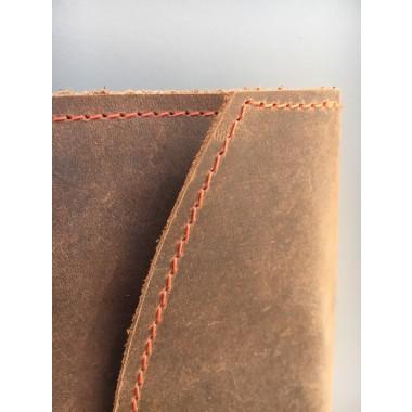 BSaite / Leder Brillenetui / Leder Etui / Leder Clutch / minimal / braun
