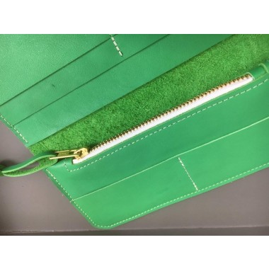 Knallgrüne Ledergeldbörse // Leder Portemonnaie // Green Leather Wallet // grüne Leder Brieftasche // maximal