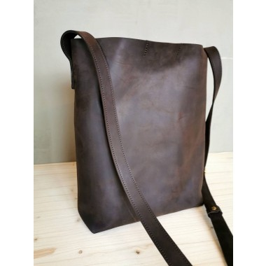 Dunkelbraune Leder Beuteltasche // leather Bucket Bag // chestnut Bucketbag // Tote Bag // Boho // Ledershopper // Crossbody Bag