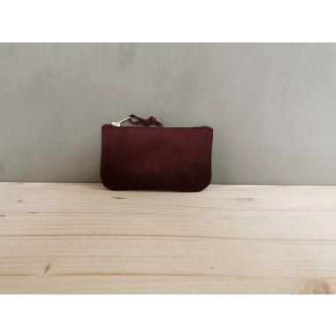 BSaite / Kleines Leder Portemonnaie / kleine Leder Clutch / red berry Ledergeldbörse