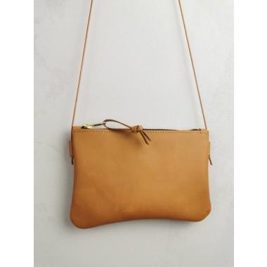 Minitasche // echt Leder camel // Smartphonetasche // Ausgehtasche // Tasche zum Reisen // natural tanned // Minibag // Beige