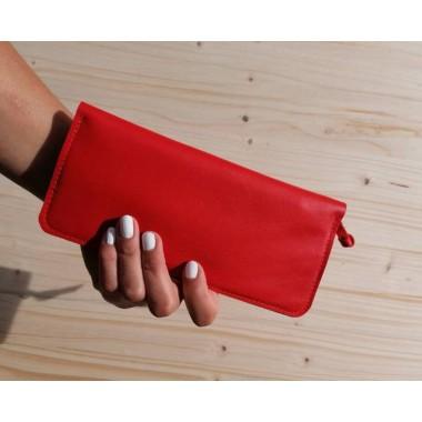 Rote Leder Geldbörse // rotes Portemonnaie // Red leather wallet // Leder Brieftasche // Damen Portemonnaie