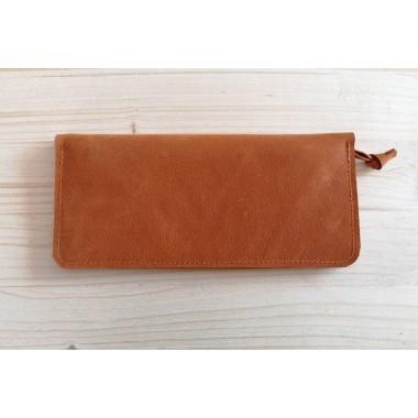 Orange Leder Geldbörse // Portemonnaie // orange leather wallet Leder Brieftasche // Indian Summer Dream // Geldbeutel Leder