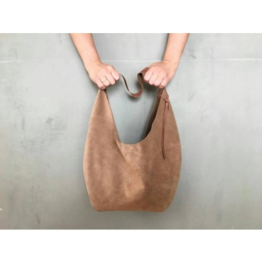 Großer Lederbeutel // Lederbeutel Tasche // Slouchy Bag // Hobo Bag // Leder Tote // boho // Shopper