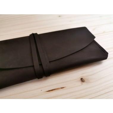 Leder Brillenetui // Leder Etui // Leder Sonnenbrillen Etui // Leder Clutch // edel // minimal // kastanienbraun // Mäppchen
