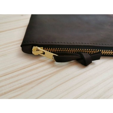 BSaite / Kleines Leder Portemonnaie / kleine Leder Clutch / dunkelbraune Ledergeldbörse / boho