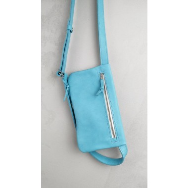 Hellblaue Leder Gürteltasche // Hüfttasche Babyblau // Hip bag leather // Fanny Pack // Crossbody // Festival Bag // Bauchtasche // Boom bag