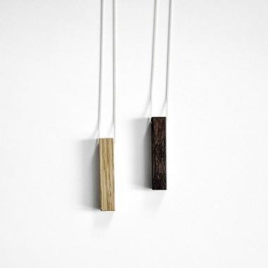 KETTE minimal WOOD - eco, flexible, vegane Baumwollkordel oder 925 Silber