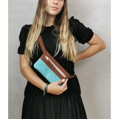 Wildleder Bauchtasche // cognac Leder Gürteltasche // Hip bag // Fanny Pack // Crossbody // Boom bag // Slouchy Bag // tumblr
