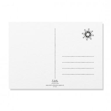"Edith schmuckes Papier ""Kling, Glöckchen, klingelingeling - Postkarten Set"" 2 Postkarten"