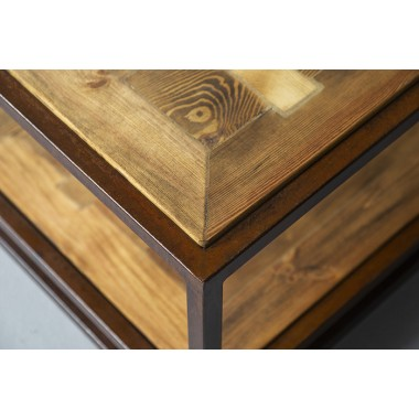 FraaiBerlin – Couchtisch aus Bauholz und Eisen verrostet Jeroen