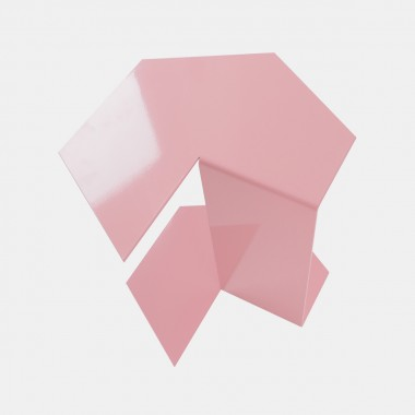 """hinzkunst Beistell- und Ecktisch """"Klabunde"""" Edelstahl pulverbeschichtet, rosa"""