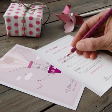 kleiner mensch Geburtstagskarten-Set – 6 Stück (Mädchen)
