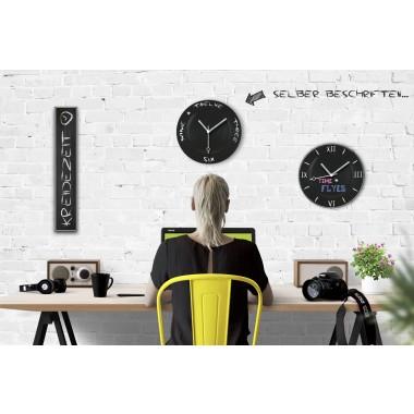 Ambientshop Kreidezeit – Die Wanduhr als Tafel für Deine Kreidegrafiken und Textbotschaften