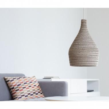 Cardboard lampshade, n7 - Hängelampe