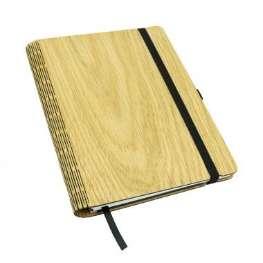 JUNGHOLZ Design Notizbuch, WoodBook, Eiche A5