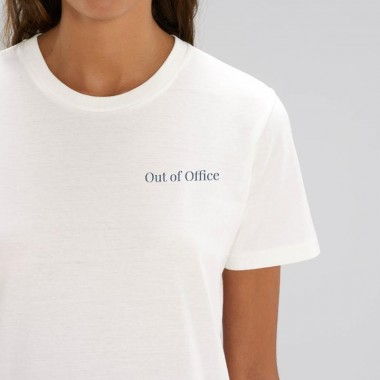 """The Life Barn – """"Out of Office"""" T-Shirt Unisex (weiß)"""