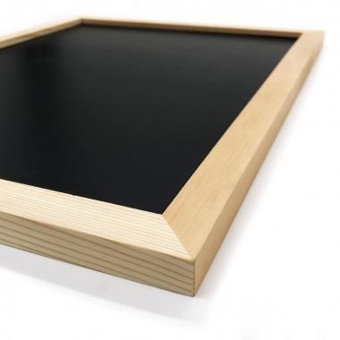 Magnetische Kreidetafel mit Holzrahmen SCHWARZ WEISS