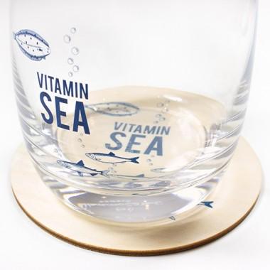 "Bow & Hummingbird Untersetzer ""Vitamin Sea"" (4 Stück)"