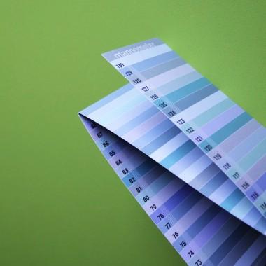 "Messlatte ""mannometer"" | Variante ""Pastell"" | 70 - 190 cm | beidseitig bedruckt | 100% Recyclingpapier"