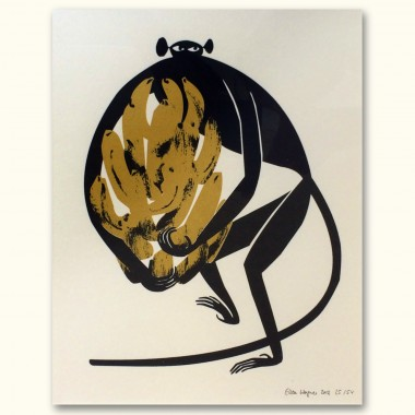 Print now - Riot later Midcentury Ape Siebdruck