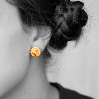 minischmidt miniBACK Zimtschnecke Ohrring Paar