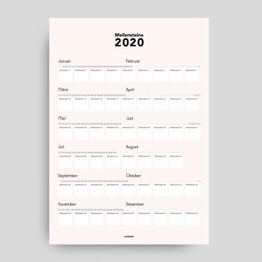 Poster-Kalender: Meilensteine 2020